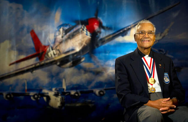 AIR FORCE AID SOCIETY HONORS TUSKEGEE AIRMAN, RETIRED COLONEL CHARLES MCGEE WITH NAMED HAP ARNOLD EDUCATION GRANT